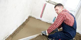 Estrich - Zement- und Beton-Estrich trocknen. Estrich Trocknung mit einem Bautrockner